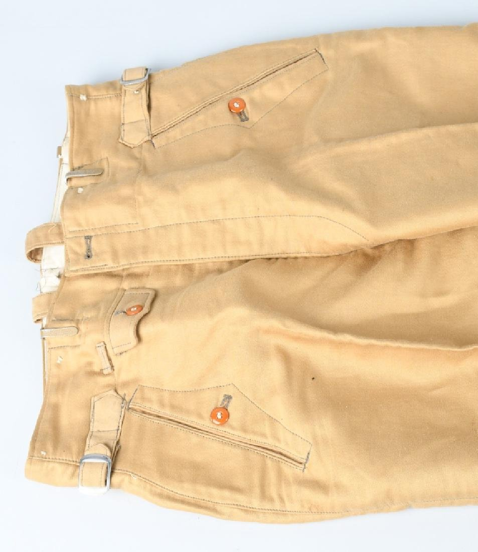 WWII NAZI GERMAN WAFFEN SS TROPICAL TROUSERS - 2