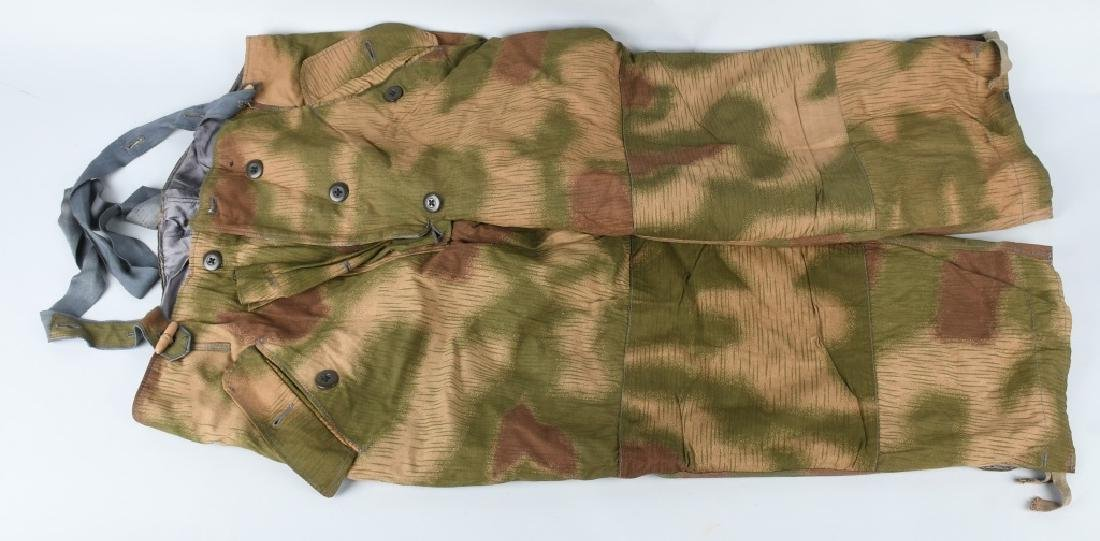 WWII NAZI GERMAN SWAMP MARSH CAMO TROUSERS & SUSP.