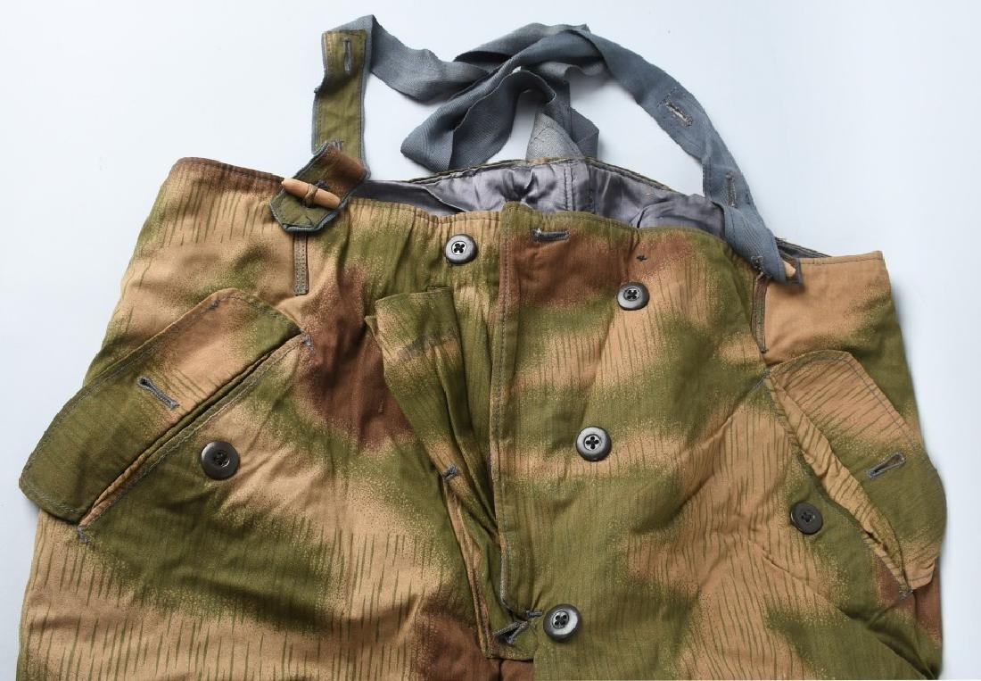 WWII NAZI GERMAN SWAMP MARSH CAMO TROUSERS & SUSP. - 2