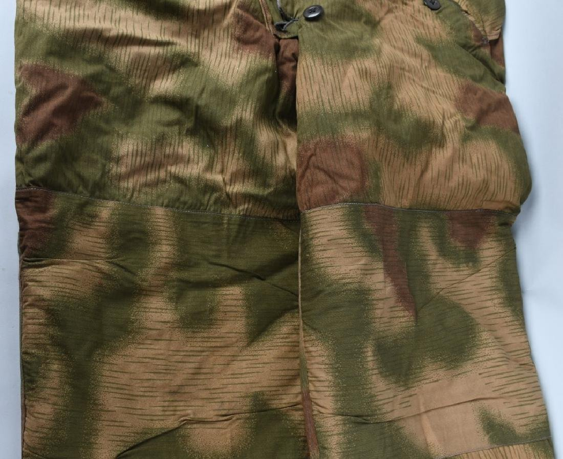 WWII NAZI GERMAN SWAMP MARSH CAMO TROUSERS & SUSP. - 3