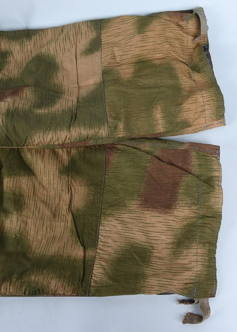 WWII NAZI GERMAN SWAMP MARSH CAMO TROUSERS & SUSP. - 4