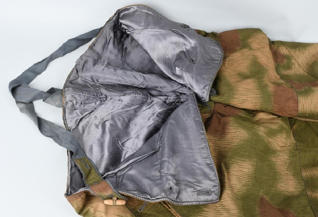 WWII NAZI GERMAN SWAMP MARSH CAMO TROUSERS & SUSP. - 5