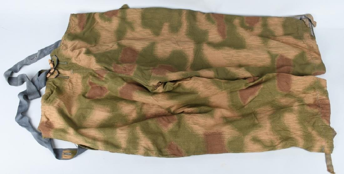 WWII NAZI GERMAN SWAMP MARSH CAMO TROUSERS & SUSP. - 7