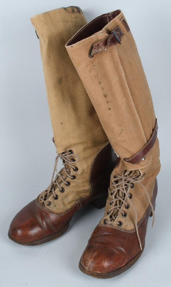 WWII NAZI GERMAN DAK TROPICAL KNEE HIGH BOOTS