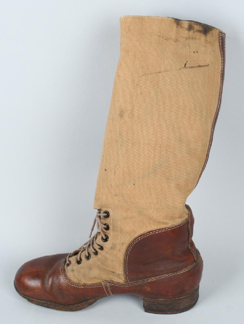 WWII NAZI GERMAN DAK TROPICAL KNEE HIGH BOOTS - 4