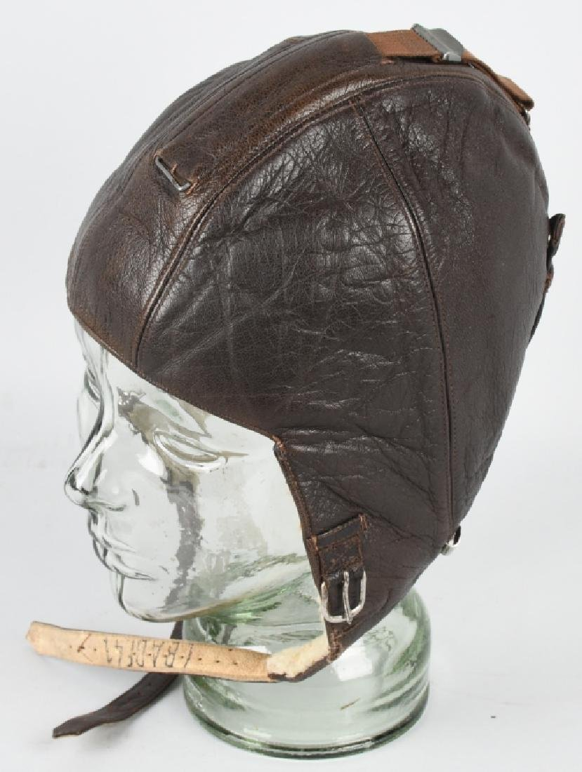 WWII NAZI GERMAN LUFTWAFFE LEATHER FLIGHT HELMET