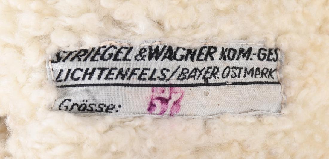 WWII NAZI GERMAN LUFTWAFFE LEATHER FLIGHT HELMET - 4