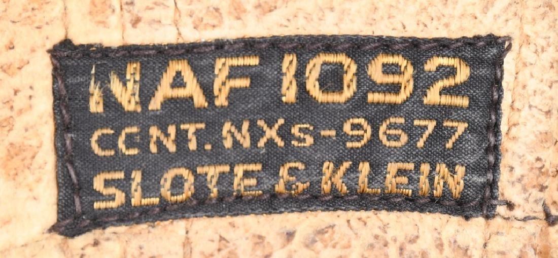 WWII U.S. NAVY FLIGHT HELMET LOT NAF 1092 - 4