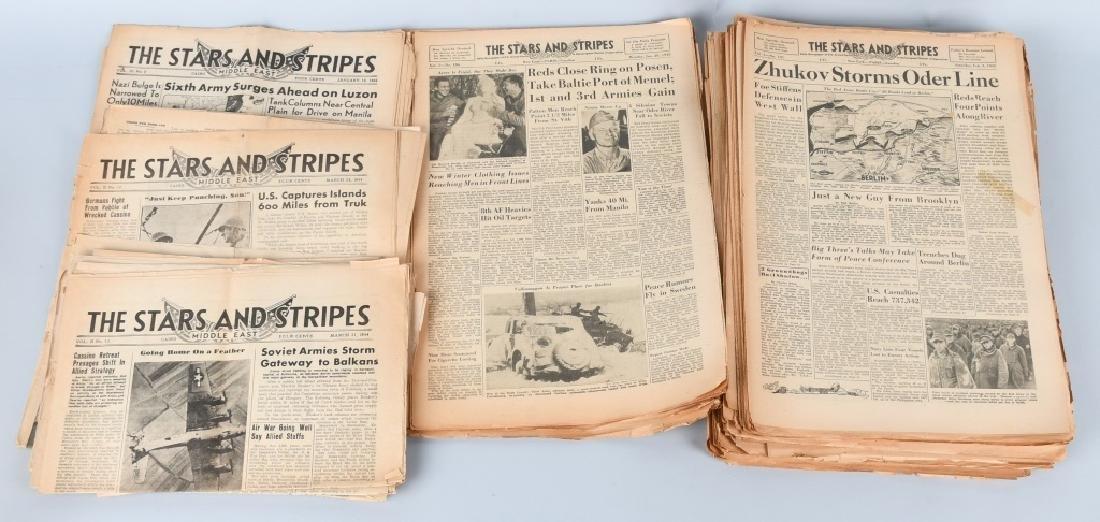 WWII U.S. STARS & STRIPES NEWSPAPER LOT - 140