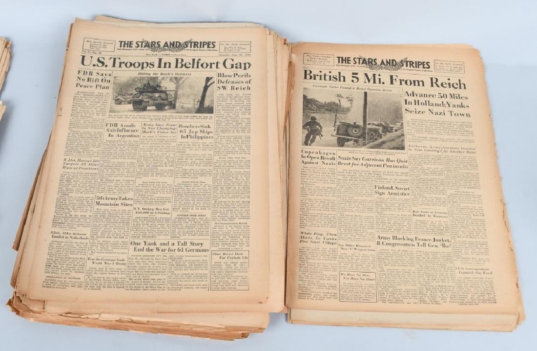 WWII U.S. STARS & STRIPES NEWSPAPER LOT - 140 - 2