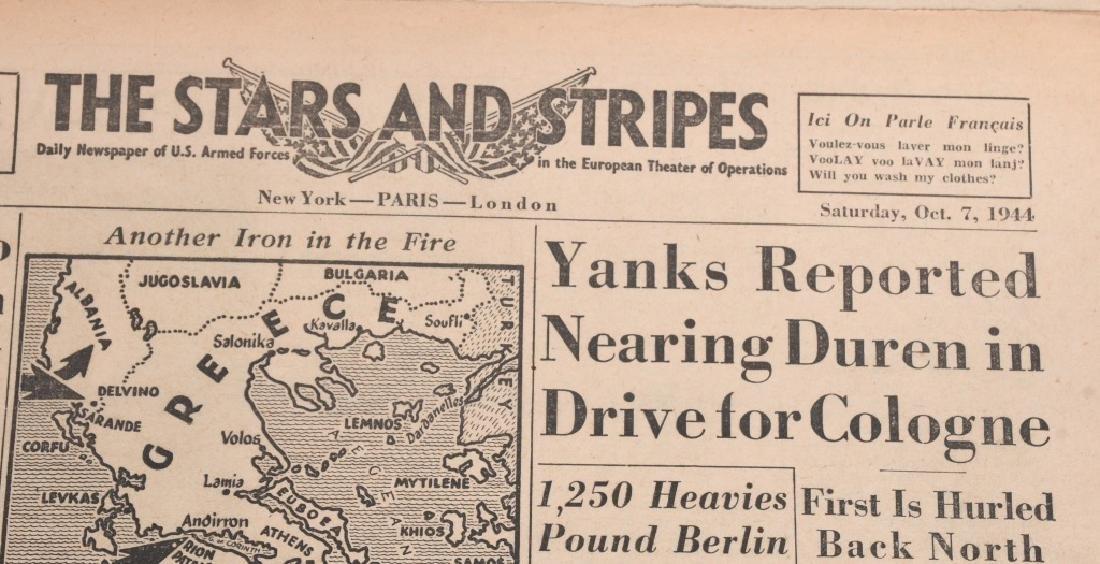 WWII U.S. STARS & STRIPES NEWSPAPER LOT - 140 - 4
