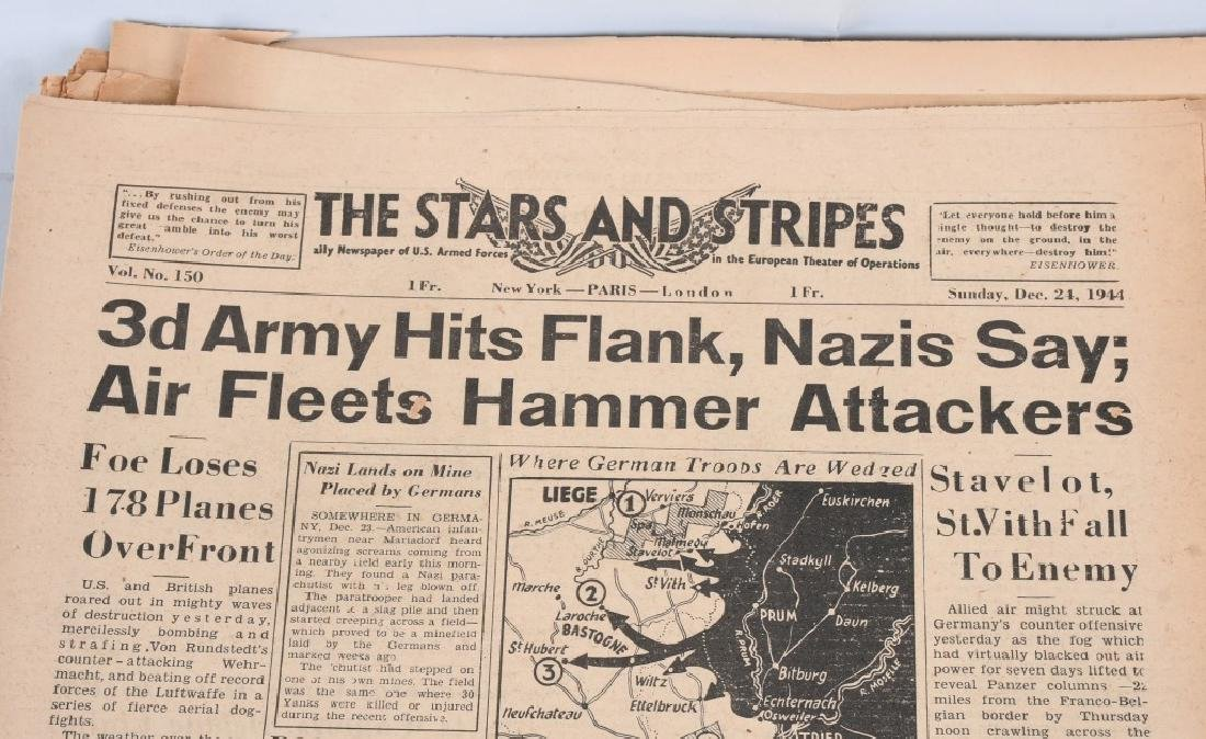 WWII U.S. STARS & STRIPES NEWSPAPER LOT - 140 - 5