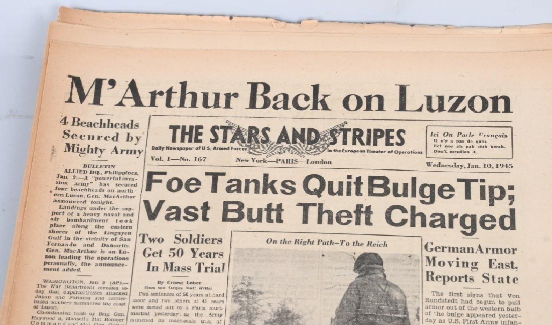WWII U.S. STARS & STRIPES NEWSPAPER LOT - 140 - 6