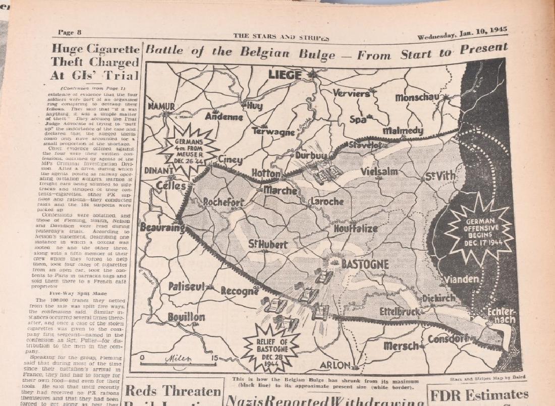 WWII U.S. STARS & STRIPES NEWSPAPER LOT - 140 - 7