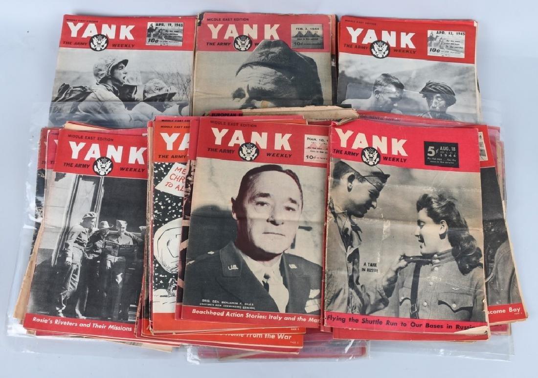 WWII U.S YANK MAGAZINE - 92 MAGAZINES