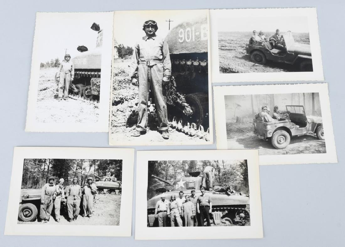 WWII U.S. TANK CORPS PHOTOGRAPH GROUP - 3