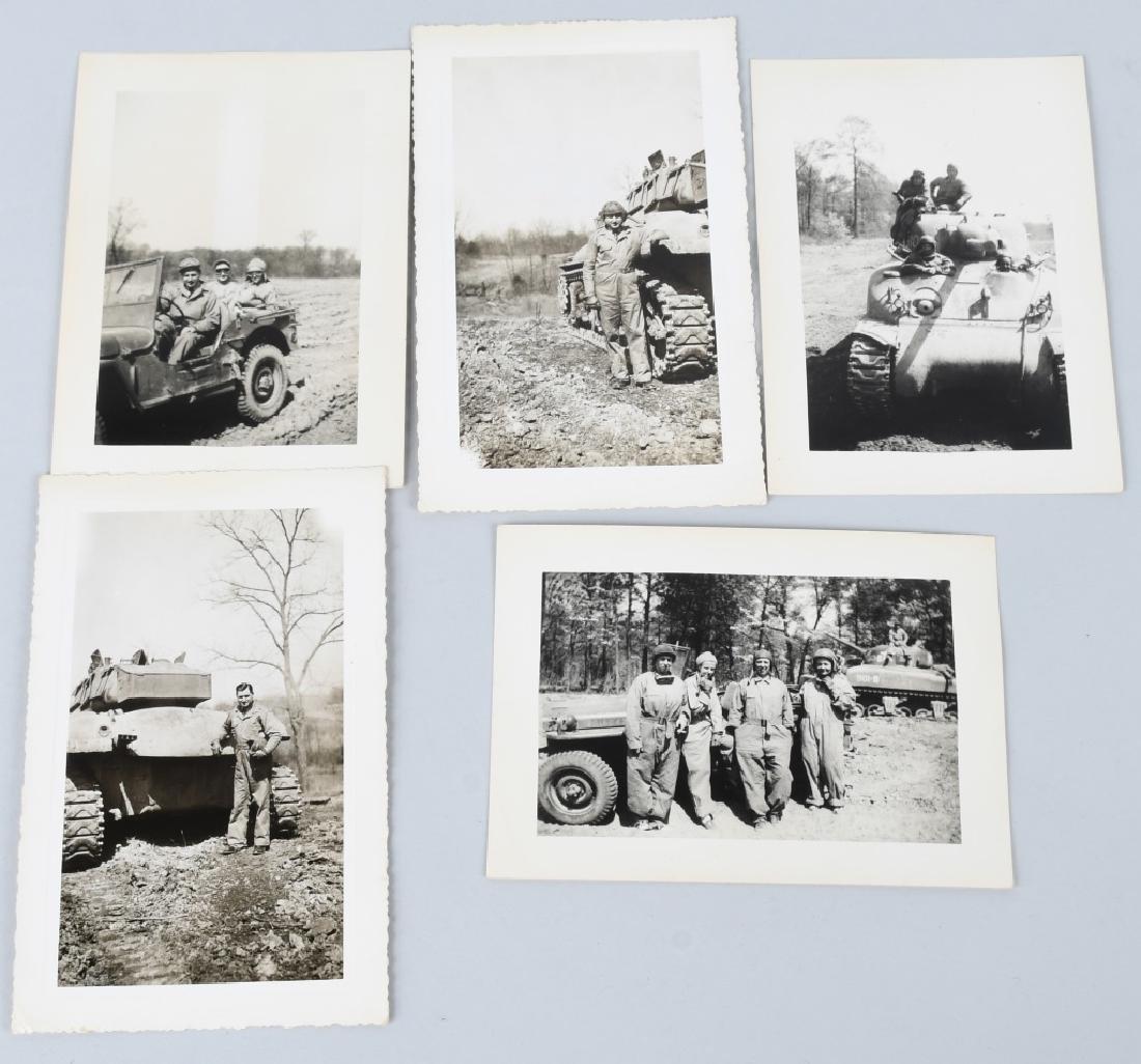 WWII U.S. TANK CORPS PHOTOGRAPH GROUP - 4