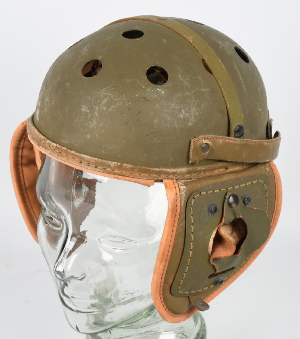 WW2 US M38 LEATHER TANKER HELMET BY RAWLINGS