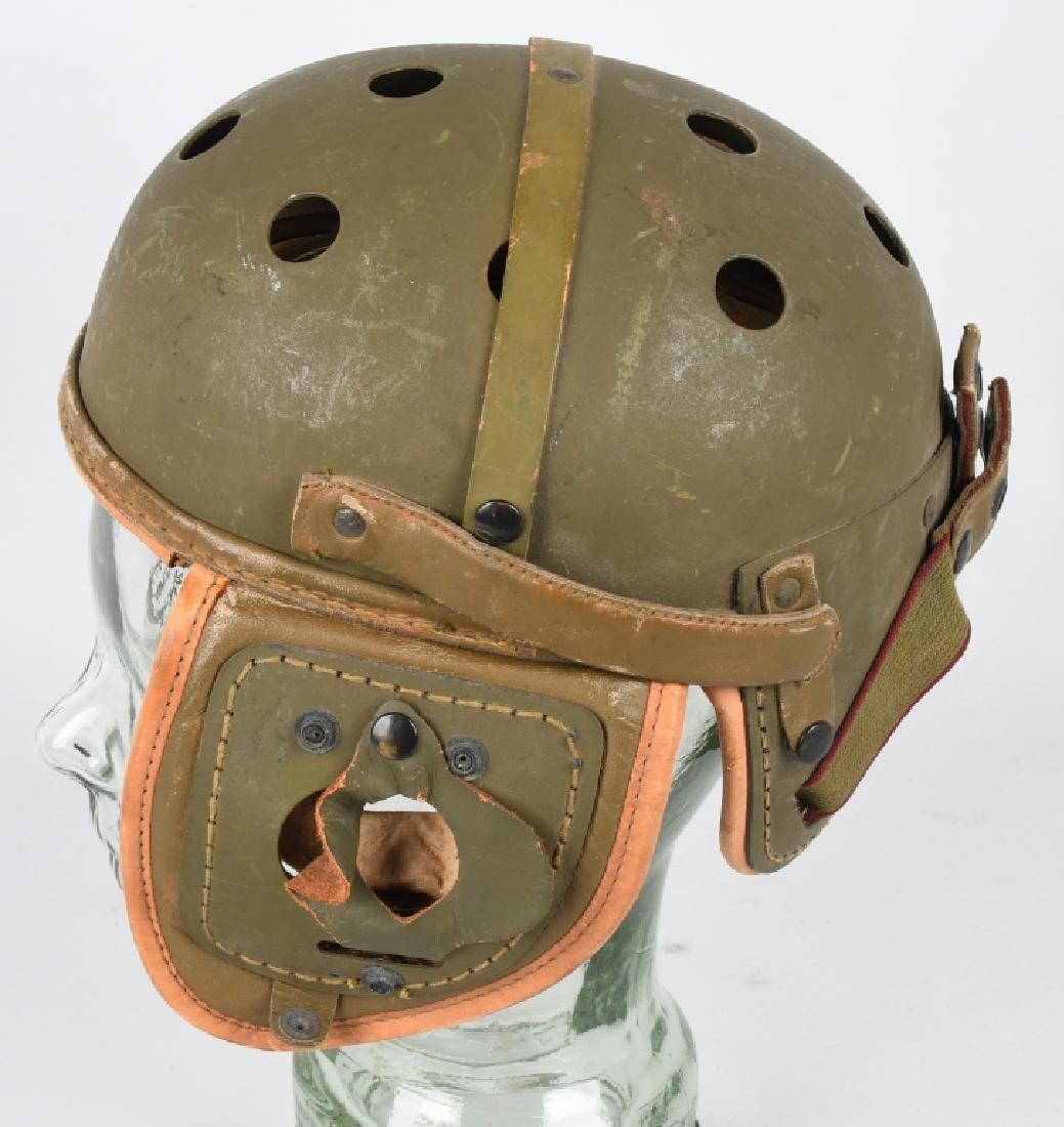 WW2 US M38 LEATHER TANKER HELMET BY RAWLINGS - 2