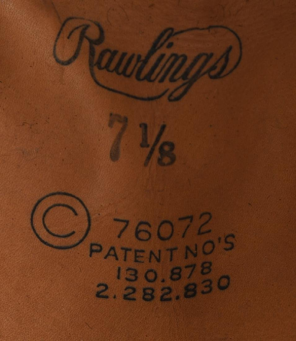 WW2 US M38 LEATHER TANKER HELMET BY RAWLINGS - 6