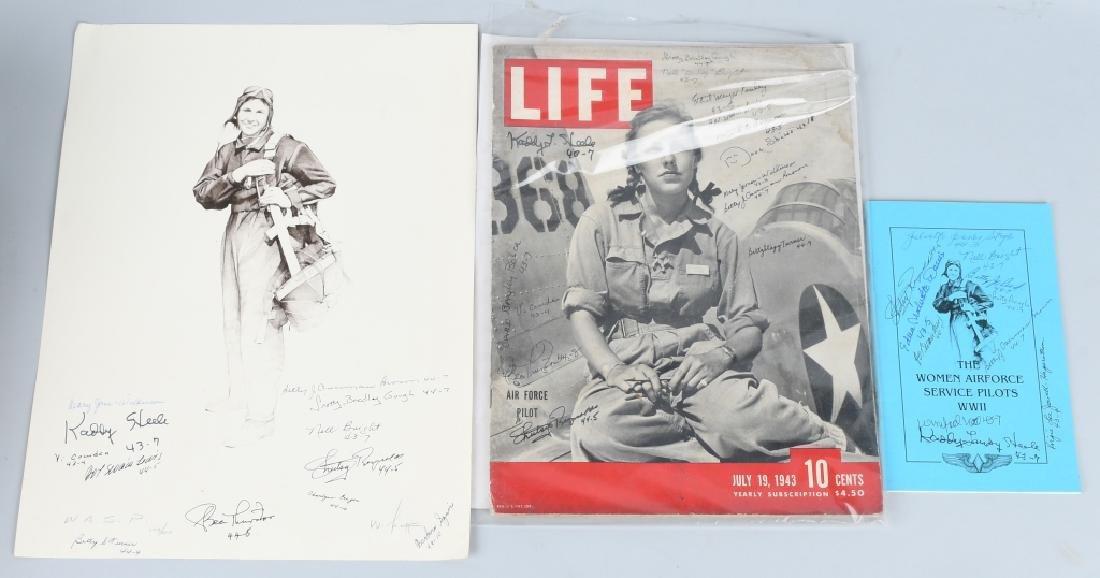 WWII US AUTOGRAPH WASP EPHEMERA INC 1943 LIFE MAG.