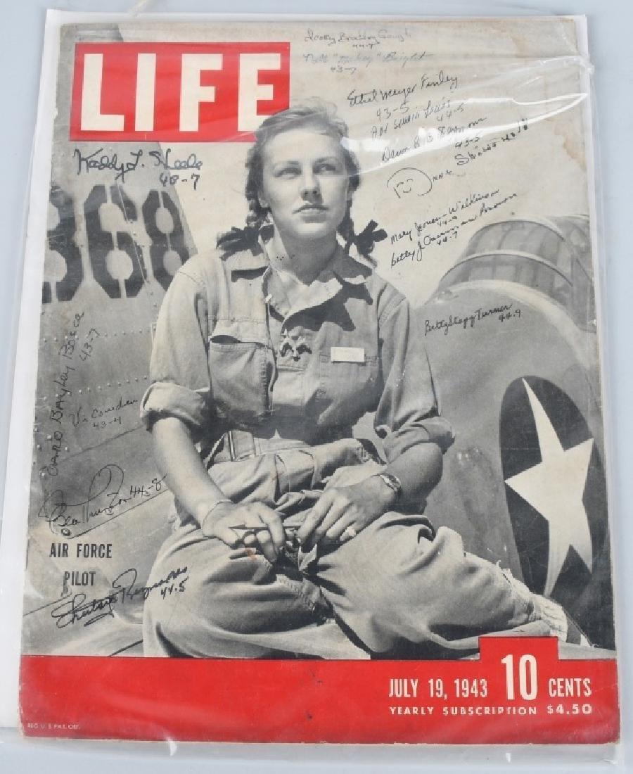 WWII US AUTOGRAPH WASP EPHEMERA INC 1943 LIFE MAG. - 2