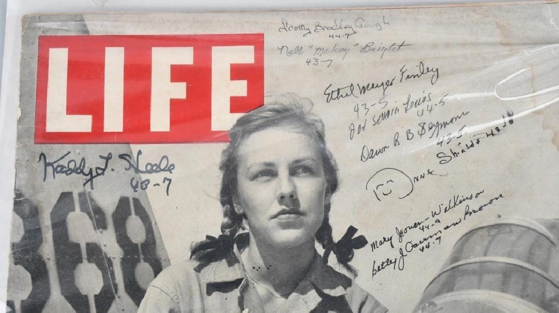 WWII US AUTOGRAPH WASP EPHEMERA INC 1943 LIFE MAG. - 3