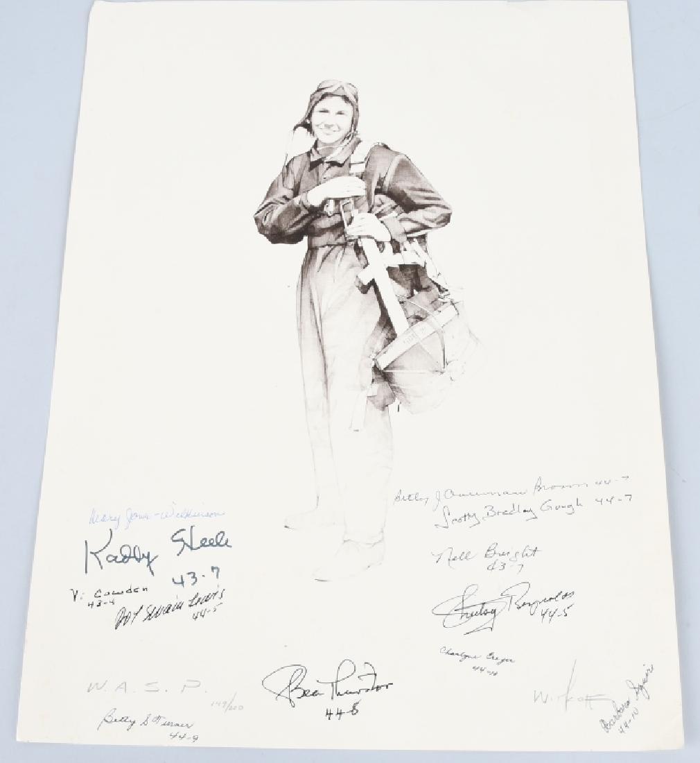 WWII US AUTOGRAPH WASP EPHEMERA INC 1943 LIFE MAG. - 8