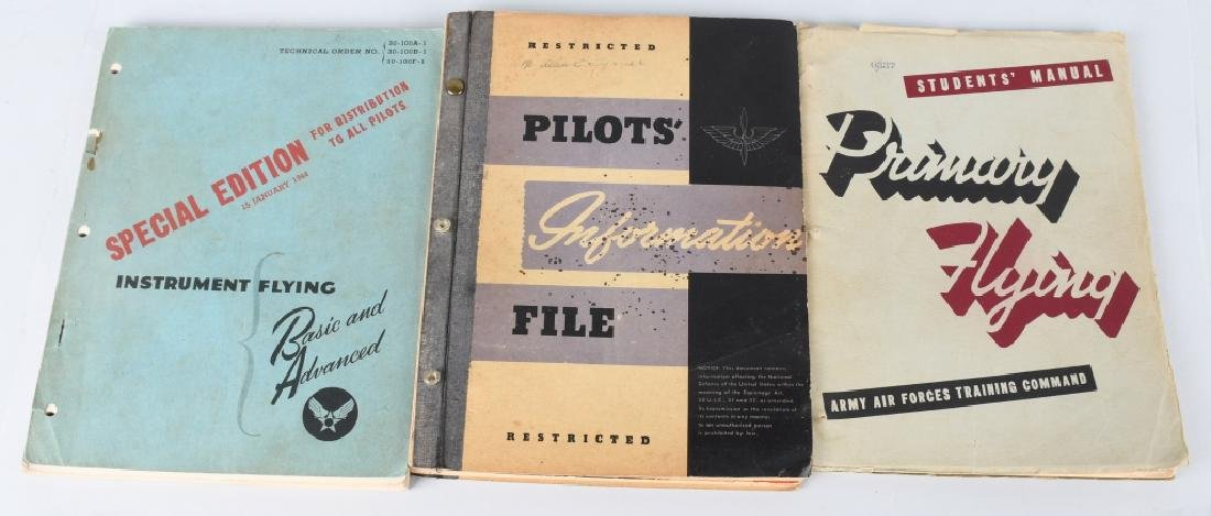WWII U.S. ARMY AIR FORCE FLYING MANUALS.