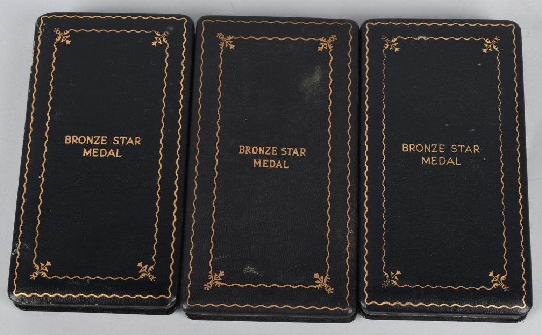 WWII U.S. CASED BRONZE STAR & SLIVER STAR LOT - 3