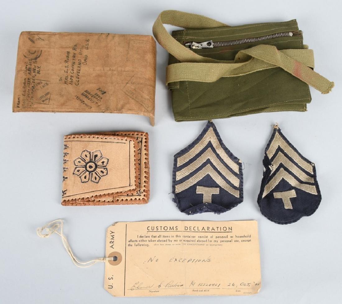 WWII U.S. NORTH AFRICA G.I. MAIL HOME SOUVENIR