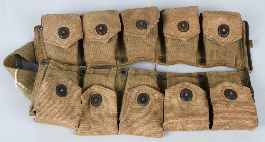 WWII U.S. ARMY AMMUNITION BELT W/ 8 CLIPS .30 CAL