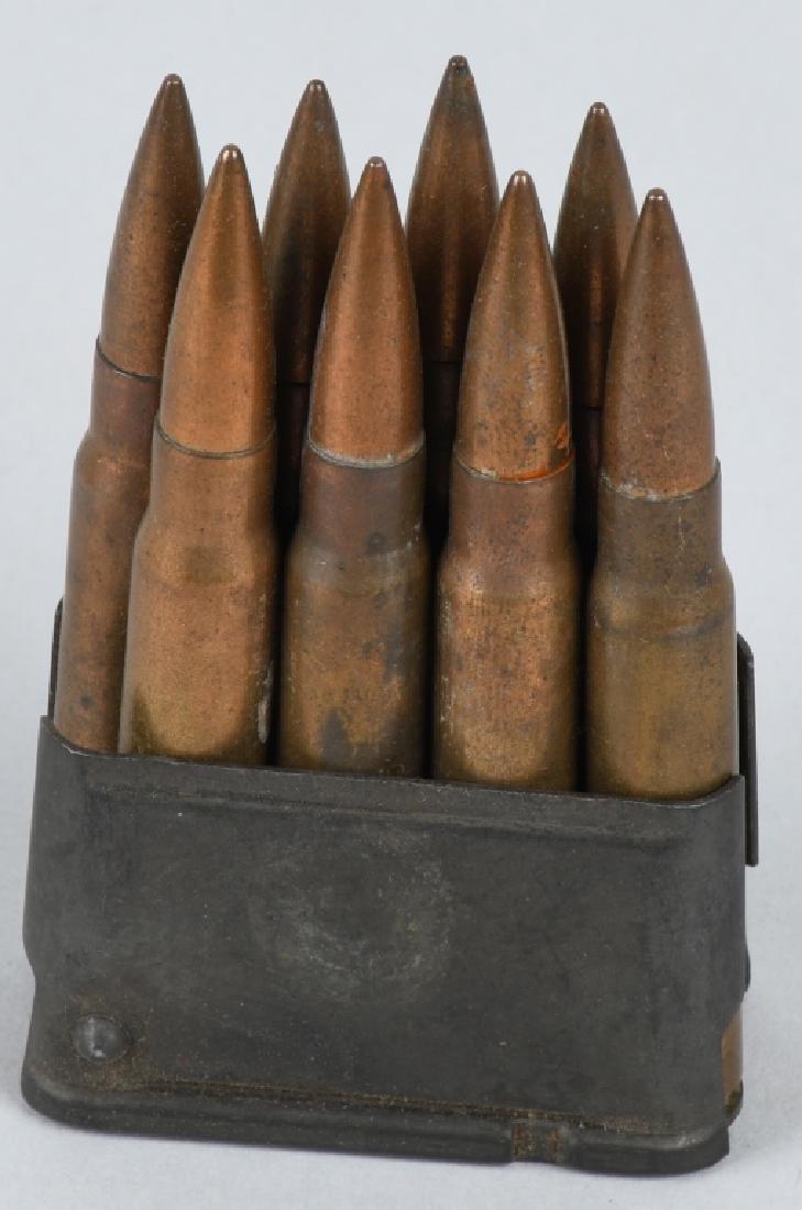 WWII U.S. ARMY AMMUNITION BELT W/ 8 CLIPS .30 CAL - 3