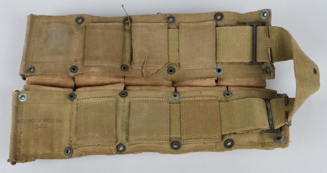 WWII U.S. ARMY AMMUNITION BELT W/ 8 CLIPS .30 CAL - 4