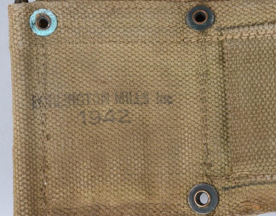 WWII U.S. ARMY AMMUNITION BELT W/ 8 CLIPS .30 CAL - 5