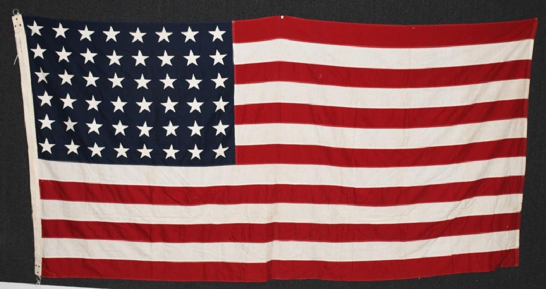 WWII US 48 STAR FLAG PHILADELPHIA Q.M. DEPOT