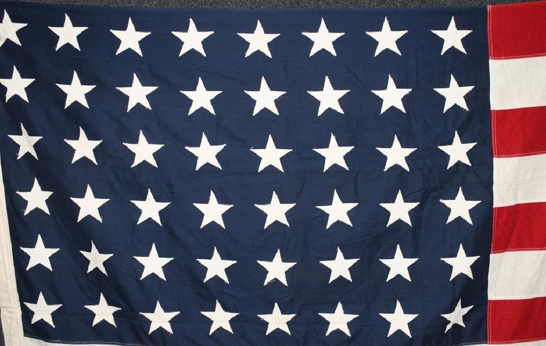 WWII US 48 STAR FLAG PHILADELPHIA Q.M. DEPOT - 2
