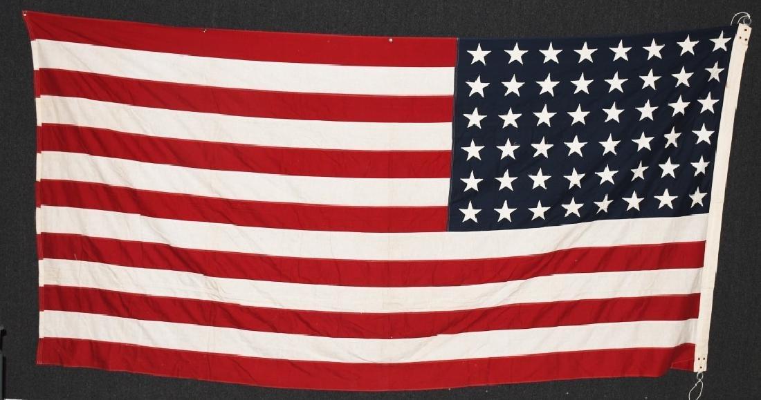 WWII US 48 STAR FLAG PHILADELPHIA Q.M. DEPOT - 6