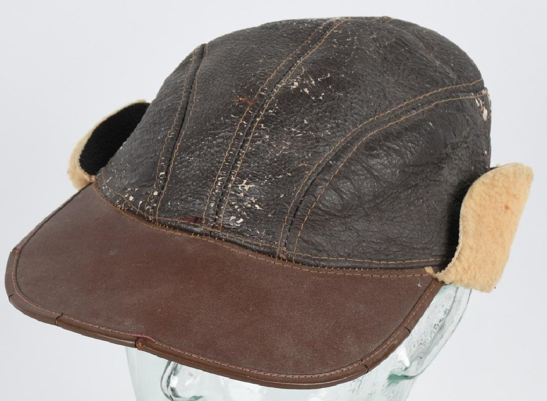 WWII U.S. ARMY AIR FORCE AAF B-2 SHEEPSKIN CAP