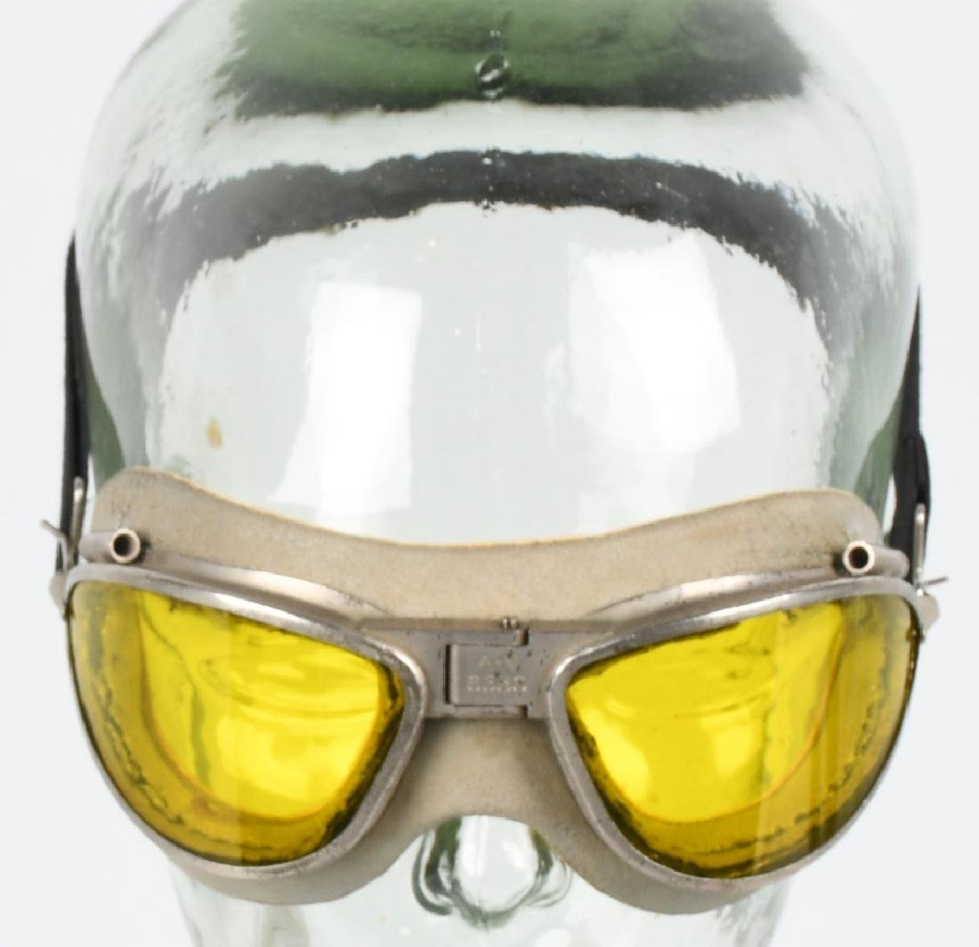 WWII U.S. AAF AN 6530 GOGGLES - AMBER - YELLOW