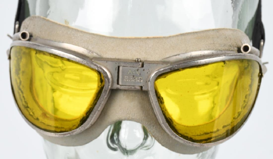 WWII U.S. AAF AN 6530 GOGGLES - AMBER - YELLOW - 2
