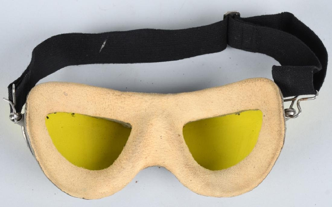 WWII U.S. AAF AN 6530 GOGGLES - AMBER - YELLOW - 3