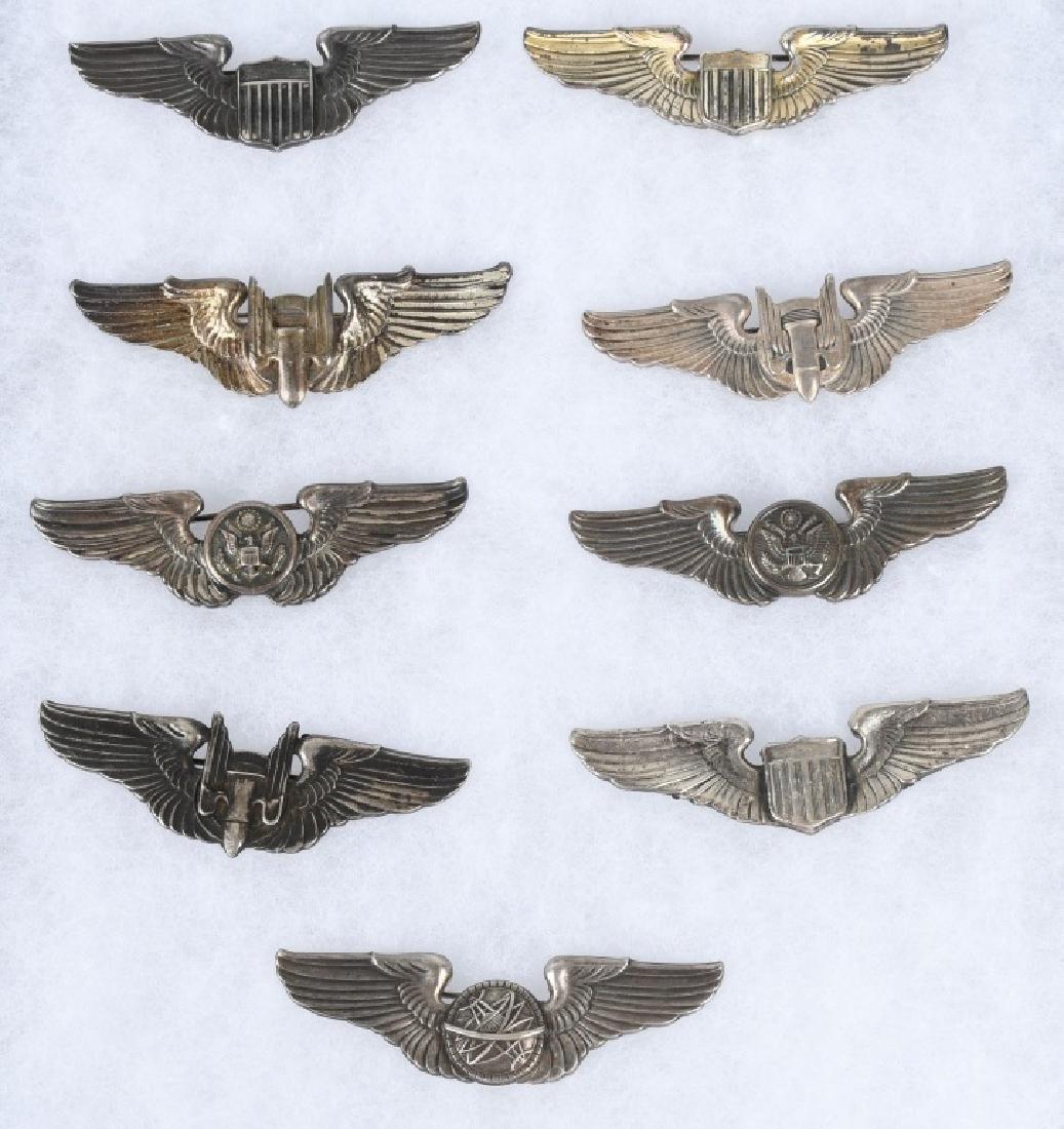 WWII U.S. AAF WING LOT 3 INCH STERLING WINGS - 9