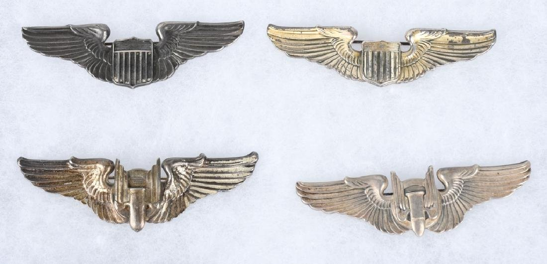 WWII U.S. AAF WING LOT 3 INCH STERLING WINGS - 9 - 2