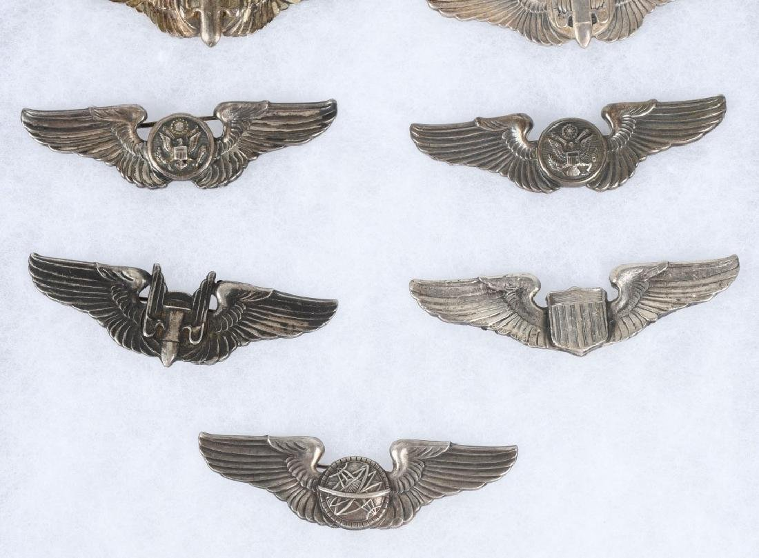 WWII U.S. AAF WING LOT 3 INCH STERLING WINGS - 9 - 3