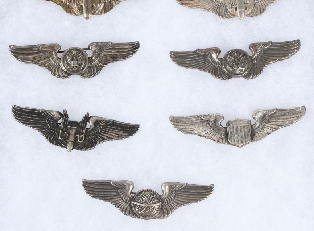 WWII U.S. AAF WING LOT 3 INCH STERLING WINGS - 9 - 3