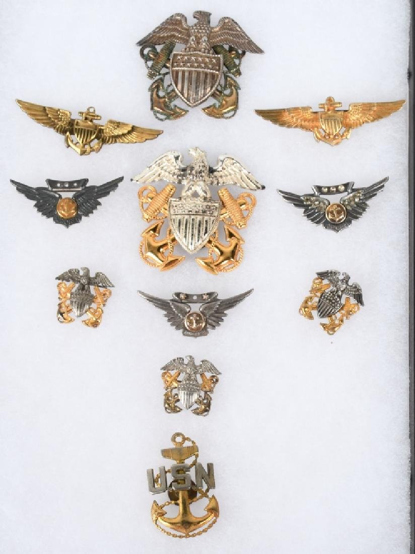 WWII NAVY & NAVAL AVIATON WINGS & INSIGNIA LOT 11