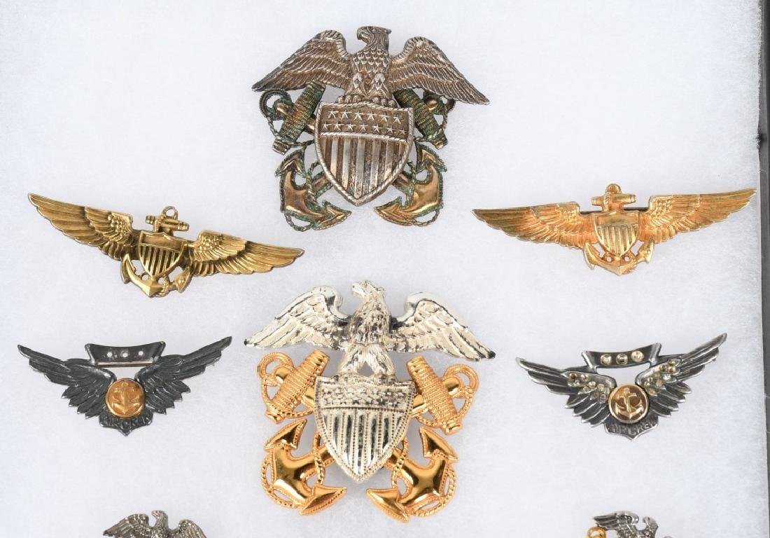 WWII NAVY & NAVAL AVIATON WINGS & INSIGNIA LOT 11 - 2