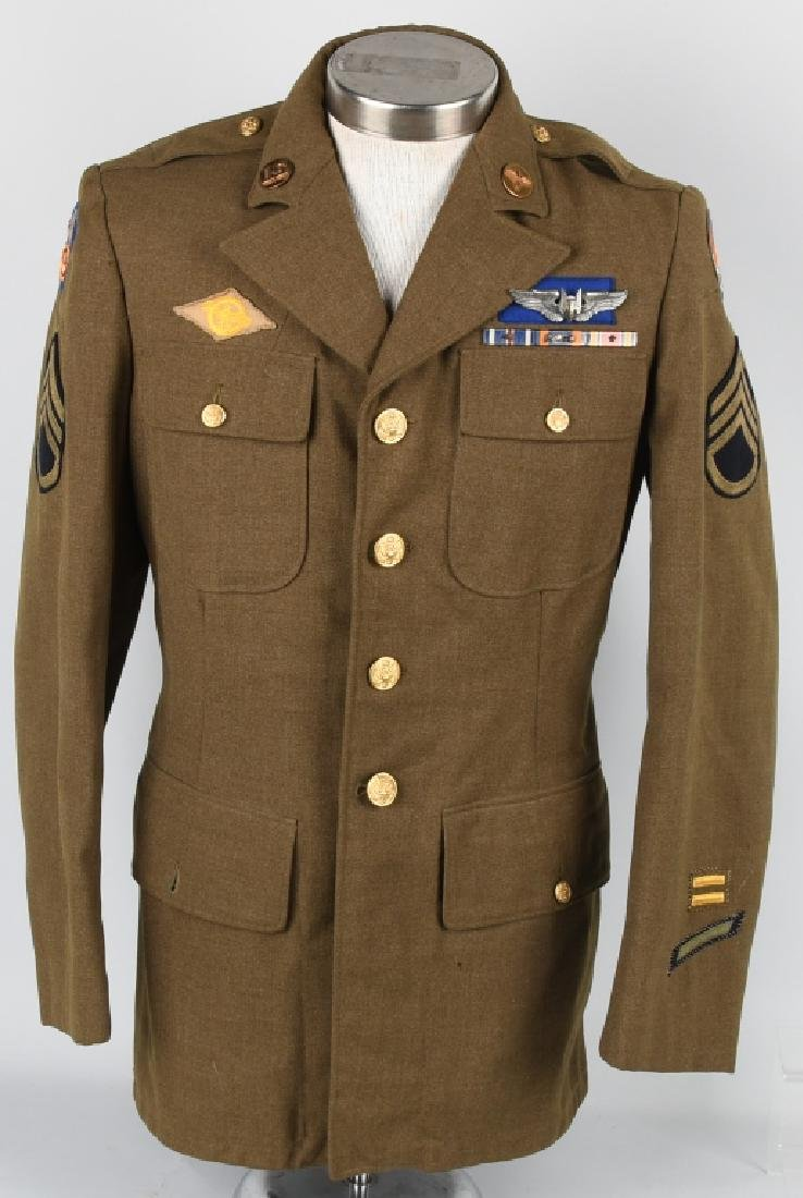 WWII 9TH US ARMY AAF COMBAT CREW JACKET W/ WINGS