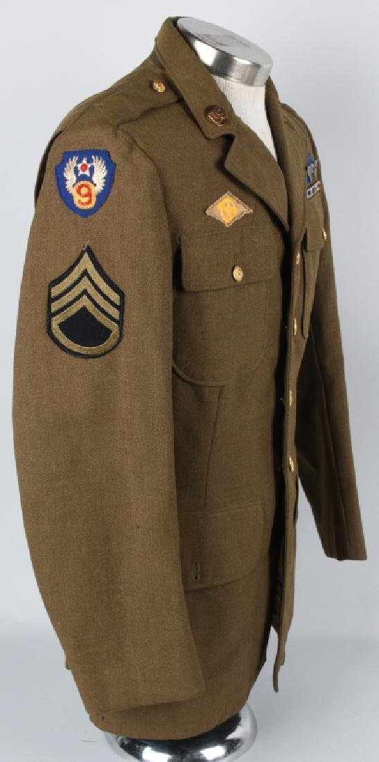 WWII 9TH US ARMY AAF COMBAT CREW JACKET W/ WINGS - 4